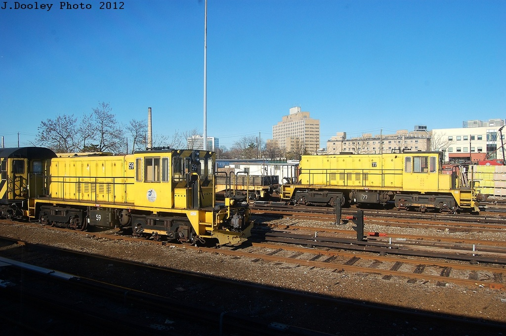(335k, 1024x680)<br><b>Country:</b> United States<br><b>City:</b> New York<br><b>System:</b> New York City Transit<br><b>Location:</b> Westchester Yard<br><b>Car:</b> R-52 Locomotive  77 <br><b>Photo by:</b> John Dooley<br><b>Date:</b> 2/26/2012<br><b>Viewed (this week/total):</b> 1 / 324