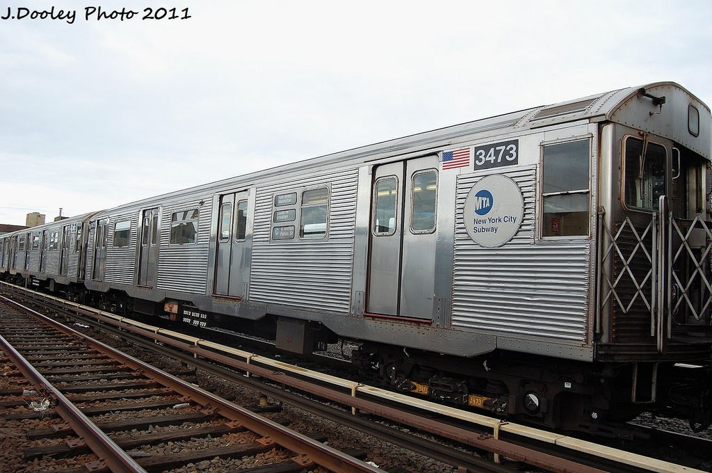 (334k, 1024x680)<br><b>Country:</b> United States<br><b>City:</b> New York<br><b>System:</b> New York City Transit<br><b>Location:</b> 207th Street Yard<br><b>Car:</b> R-32 (Budd, 1964)  3473 <br><b>Photo by:</b> John Dooley<br><b>Date:</b> 11/29/2011<br><b>Viewed (this week/total):</b> 2 / 106