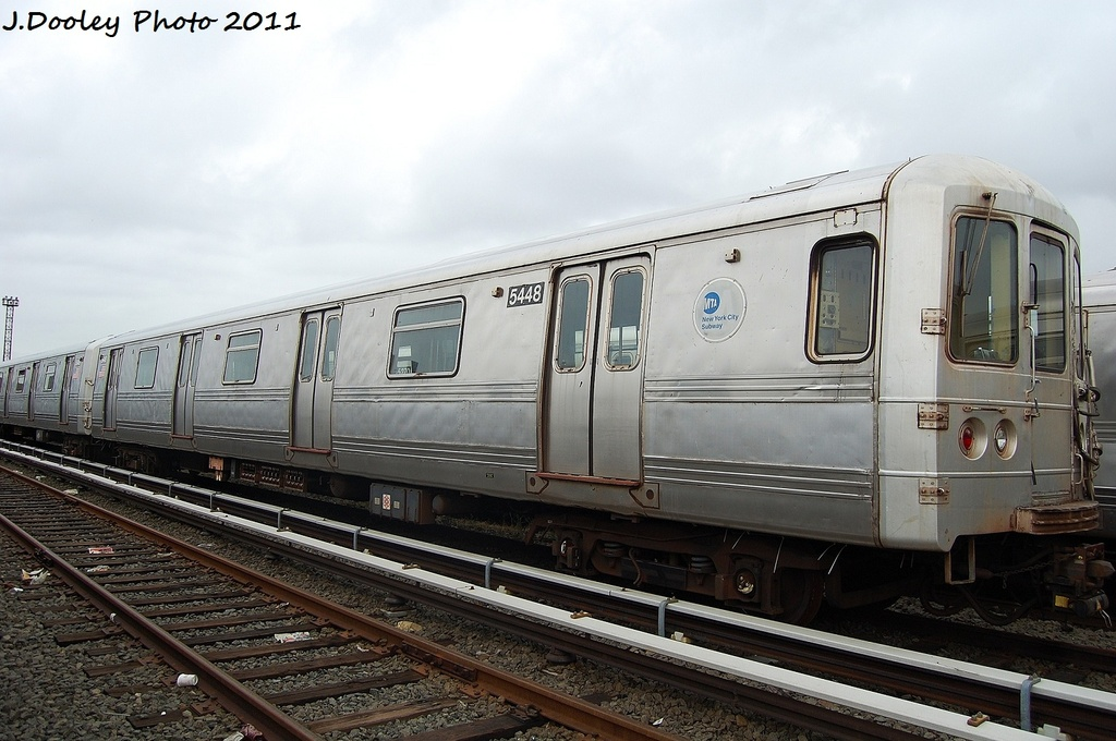 (302k, 1024x680)<br><b>Country:</b> United States<br><b>City:</b> New York<br><b>System:</b> New York City Transit<br><b>Location:</b> 207th Street Yard<br><b>Car:</b> R-44 (St. Louis, 1971-73) 5448 <br><b>Photo by:</b> John Dooley<br><b>Date:</b> 11/29/2011<br><b>Viewed (this week/total):</b> 0 / 346