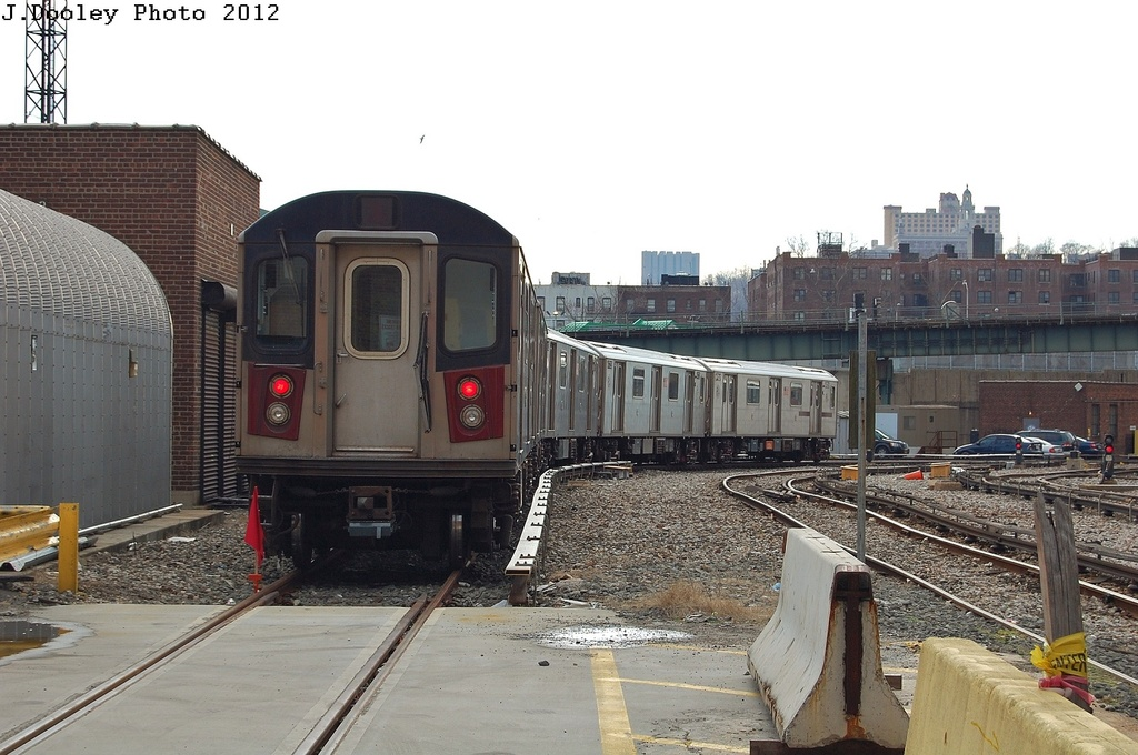 (307k, 1024x680)<br><b>Country:</b> United States<br><b>City:</b> New York<br><b>System:</b> New York City Transit<br><b>Location:</b> 207th Street Yard<br><b>Car:</b> R-142 or R-142A (Number Unknown)  <br><b>Photo by:</b> John Dooley<br><b>Date:</b> 2/1/2012<br><b>Viewed (this week/total):</b> 0 / 515