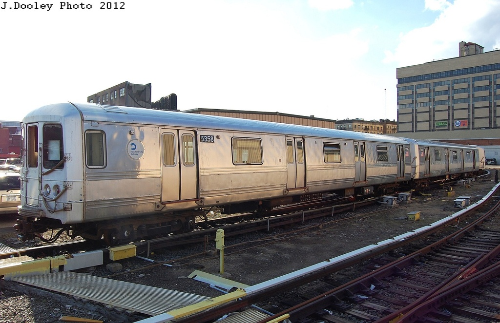 (305k, 1024x663)<br><b>Country:</b> United States<br><b>City:</b> New York<br><b>System:</b> New York City Transit<br><b>Location:</b> 207th Street Yard<br><b>Car:</b> R-44 (St. Louis, 1971-73) 5358 <br><b>Photo by:</b> John Dooley<br><b>Date:</b> 2/1/2012<br><b>Viewed (this week/total):</b> 2 / 270