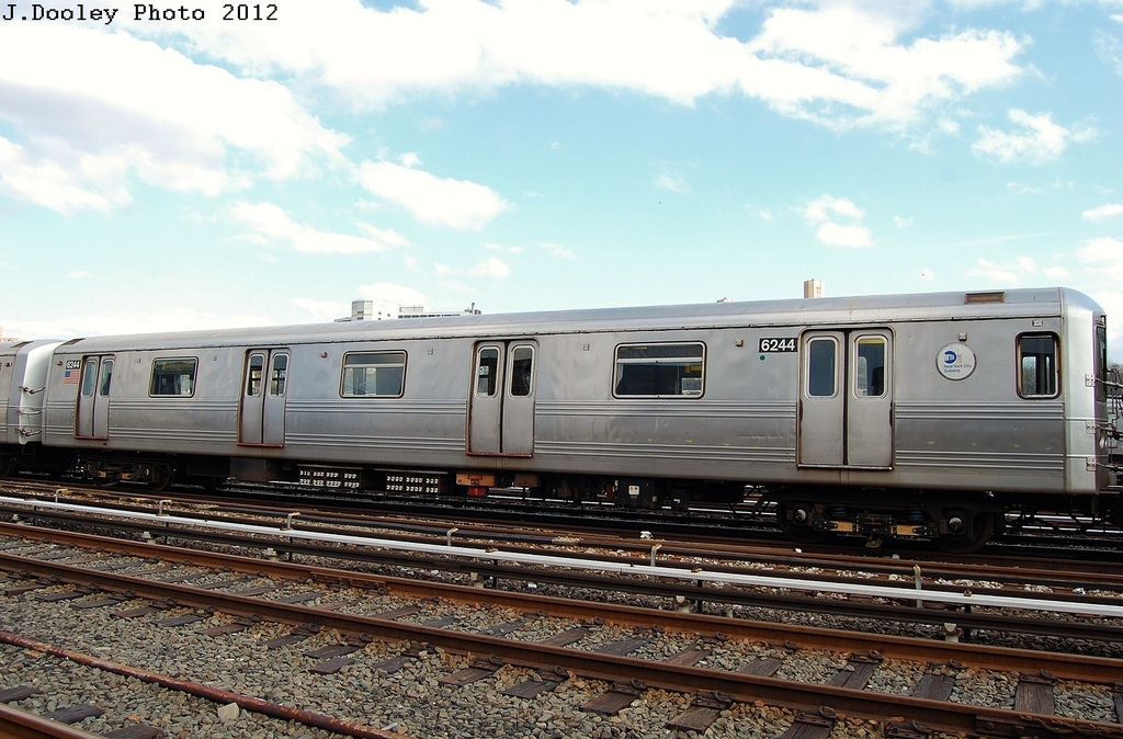 (319k, 1024x674)<br><b>Country:</b> United States<br><b>City:</b> New York<br><b>System:</b> New York City Transit<br><b>Location:</b> 207th Street Yard<br><b>Car:</b> R-46 (Pullman-Standard, 1974-75) 6244 <br><b>Photo by:</b> John Dooley<br><b>Date:</b> 2/1/2012<br><b>Viewed (this week/total):</b> 1 / 260