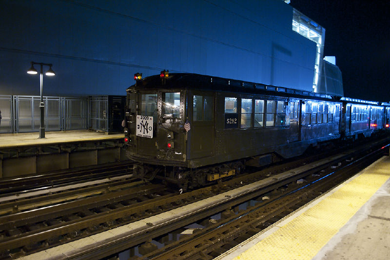 (112k, 800x535)<br><b>Country:</b> United States<br><b>City:</b> New York<br><b>System:</b> New York City Transit<br><b>Line:</b> IRT Woodlawn Line<br><b>Location:</b> 161st Street/River Avenue (Yankee Stadium) <br><b>Route:</b> Fan Trip<br><b>Car:</b> Low-V (Museum Train) 5292 <br><b>Photo by:</b> Melvin Feliz<br><b>Date:</b> 10/9/2010<br><b>Viewed (this week/total):</b> 1 / 272