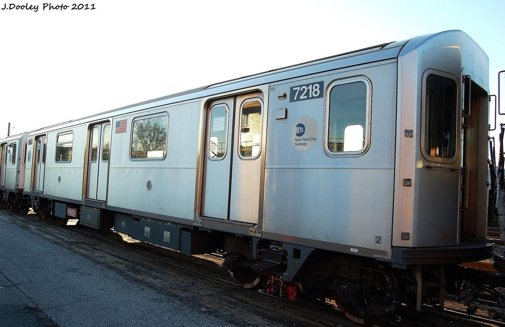 (283k, 1024x664)<br><b>Country:</b> United States<br><b>City:</b> New York<br><b>System:</b> New York City Transit<br><b>Location:</b> 239th Street Yard<br><b>Car:</b> R-142A (Primary Order, Kawasaki, 1999-2002)  7218 <br><b>Photo by:</b> John Dooley<br><b>Date:</b> 12/8/2011<br><b>Viewed (this week/total):</b> 1 / 227