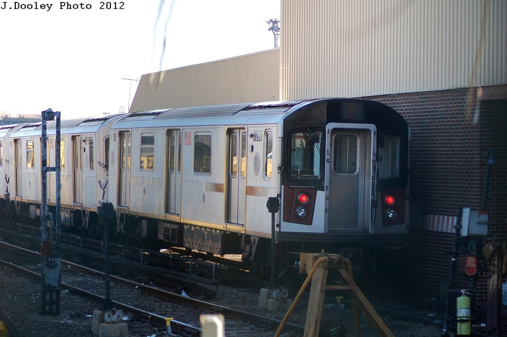 (264k, 1024x680)<br><b>Country:</b> United States<br><b>City:</b> New York<br><b>System:</b> New York City Transit<br><b>Location:</b> Westchester Yard<br><b>Route:</b> 6<br><b>Car:</b> R-142A (Primary Order, Kawasaki, 1999-2002)  7290 <br><b>Photo by:</b> John Dooley<br><b>Date:</b> 2/22/2012<br><b>Viewed (this week/total):</b> 1 / 490