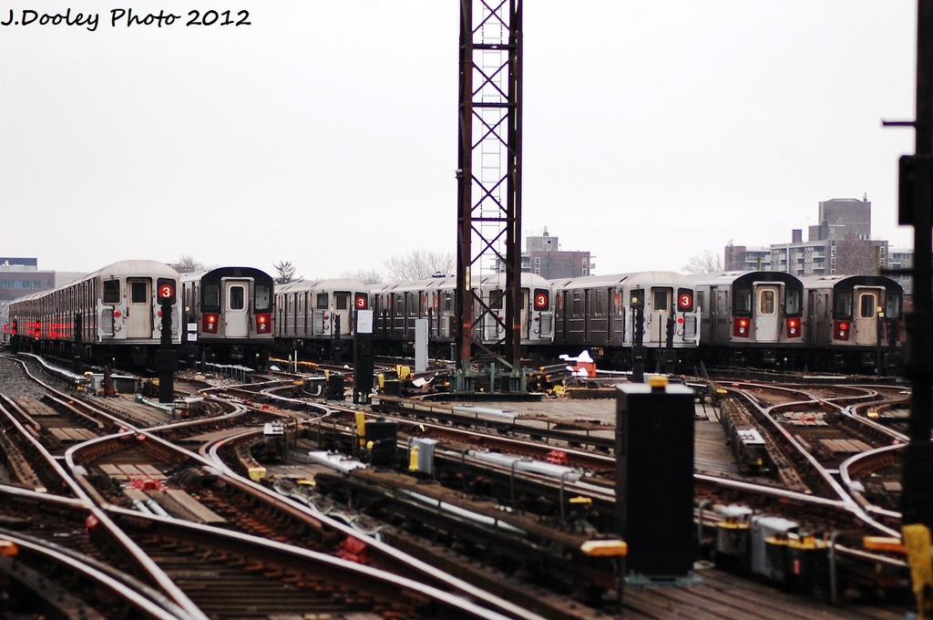 (303k, 1024x680)<br><b>Country:</b> United States<br><b>City:</b> New York<br><b>System:</b> New York City Transit<br><b>Location:</b> Livonia Yard<br><b>Photo by:</b> John Dooley<br><b>Date:</b> 1/26/2012<br><b>Viewed (this week/total):</b> 0 / 821