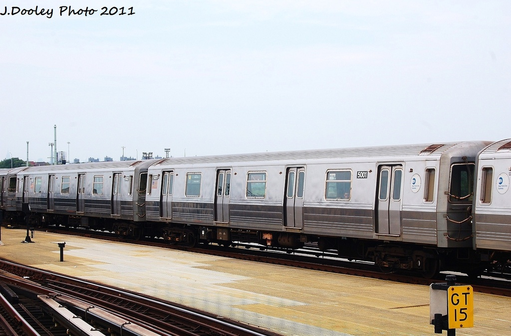 (291k, 1024x673)<br><b>Country:</b> United States<br><b>City:</b> New York<br><b>System:</b> New York City Transit<br><b>Location:</b> Coney Island/Stillwell Avenue<br><b>Route:</b> N<br><b>Car:</b> R-68A (Kawasaki, 1988-1989)  5001 <br><b>Photo by:</b> John Dooley<br><b>Date:</b> 7/23/2011<br><b>Viewed (this week/total):</b> 2 / 498