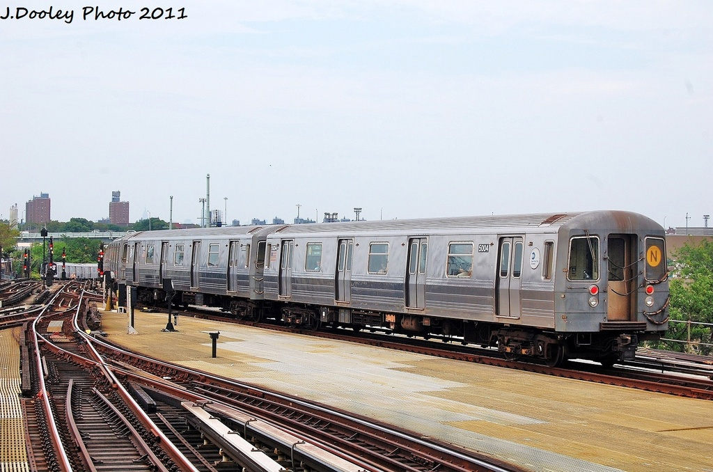 (329k, 1024x678)<br><b>Country:</b> United States<br><b>City:</b> New York<br><b>System:</b> New York City Transit<br><b>Location:</b> Coney Island/Stillwell Avenue<br><b>Route:</b> N<br><b>Car:</b> R-68A (Kawasaki, 1988-1989)  5004 <br><b>Photo by:</b> John Dooley<br><b>Date:</b> 7/23/2011<br><b>Viewed (this week/total):</b> 0 / 317
