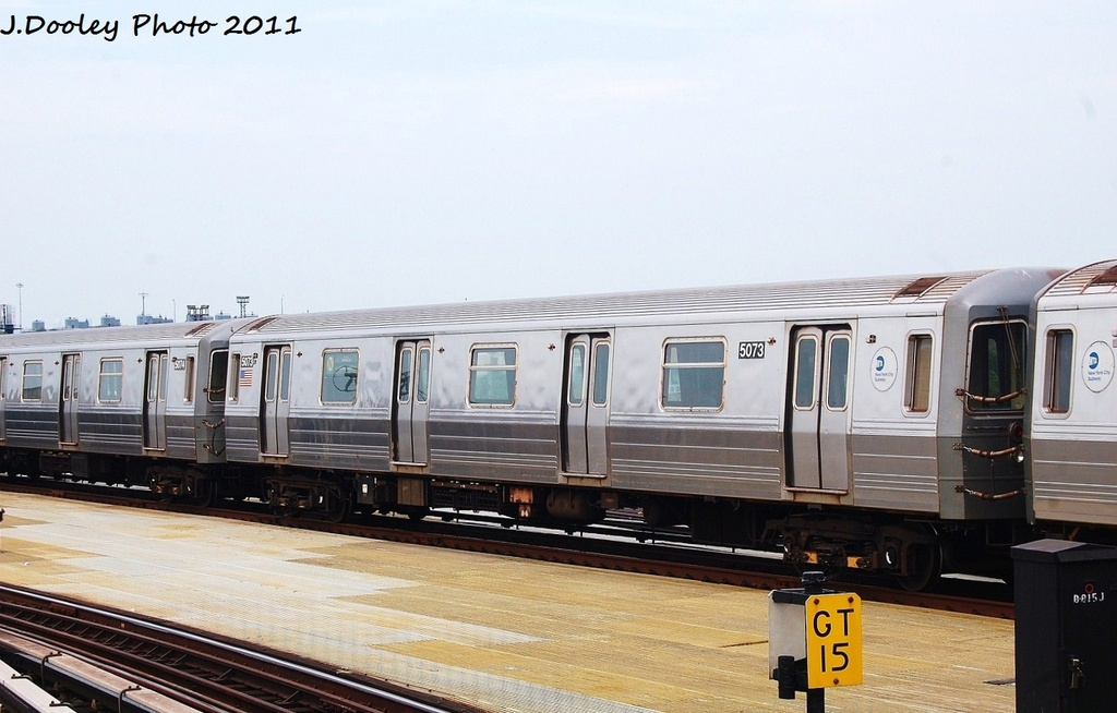 (266k, 1024x654)<br><b>Country:</b> United States<br><b>City:</b> New York<br><b>System:</b> New York City Transit<br><b>Location:</b> Coney Island/Stillwell Avenue<br><b>Route:</b> N<br><b>Car:</b> R-68A (Kawasaki, 1988-1989)  5073 <br><b>Photo by:</b> John Dooley<br><b>Date:</b> 7/23/2011<br><b>Viewed (this week/total):</b> 1 / 173