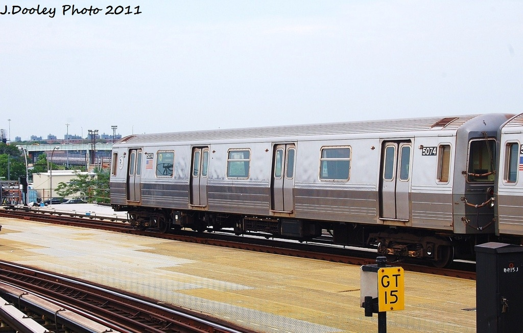 (292k, 1024x651)<br><b>Country:</b> United States<br><b>City:</b> New York<br><b>System:</b> New York City Transit<br><b>Location:</b> Coney Island/Stillwell Avenue<br><b>Route:</b> N<br><b>Car:</b> R-68A (Kawasaki, 1988-1989)  5074 <br><b>Photo by:</b> John Dooley<br><b>Date:</b> 7/23/2011<br><b>Viewed (this week/total):</b> 0 / 163