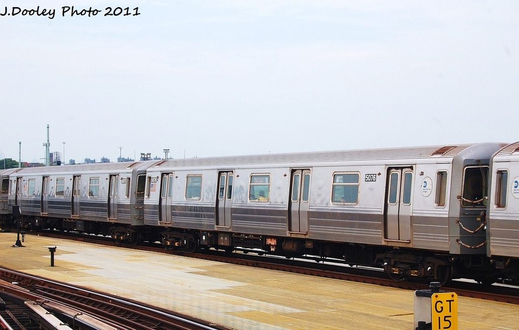 (274k, 1024x651)<br><b>Country:</b> United States<br><b>City:</b> New York<br><b>System:</b> New York City Transit<br><b>Location:</b> Coney Island/Stillwell Avenue<br><b>Route:</b> N<br><b>Car:</b> R-68A (Kawasaki, 1988-1989)  5076 <br><b>Photo by:</b> John Dooley<br><b>Date:</b> 7/23/2011<br><b>Viewed (this week/total):</b> 2 / 111