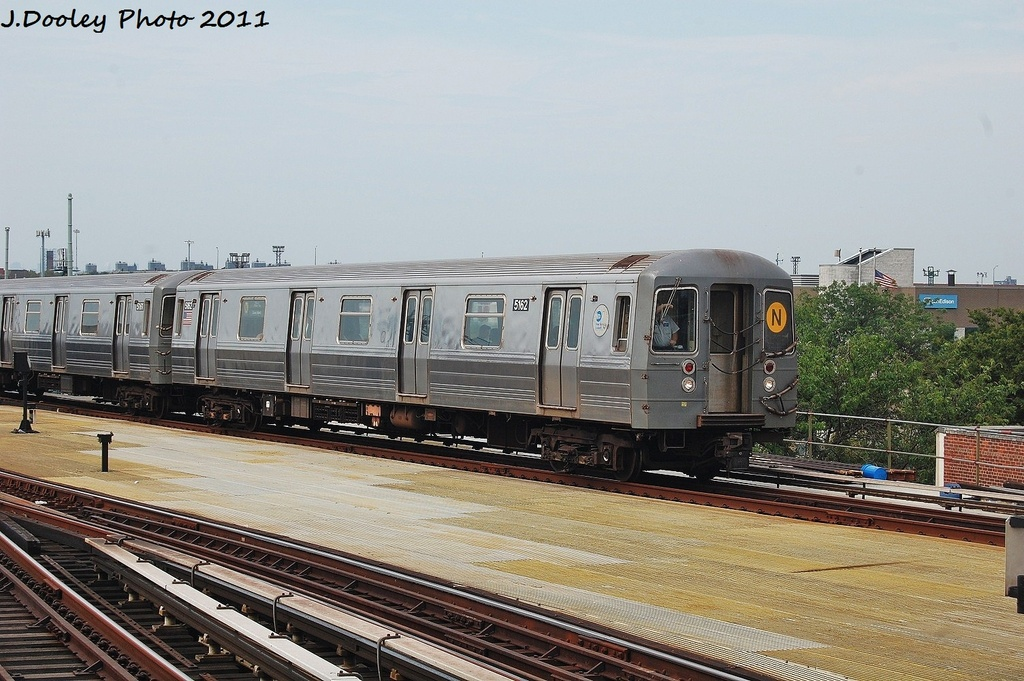 (337k, 1024x681)<br><b>Country:</b> United States<br><b>City:</b> New York<br><b>System:</b> New York City Transit<br><b>Location:</b> Coney Island/Stillwell Avenue<br><b>Route:</b> N<br><b>Car:</b> R-68A (Kawasaki, 1988-1989)  5162 <br><b>Photo by:</b> John Dooley<br><b>Date:</b> 7/23/2011<br><b>Viewed (this week/total):</b> 2 / 214