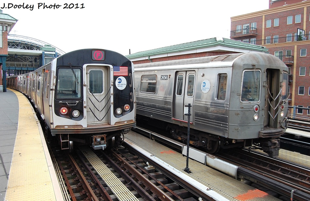 (365k, 1024x665)<br><b>Country:</b> United States<br><b>City:</b> New York<br><b>System:</b> New York City Transit<br><b>Location:</b> Coney Island/Stillwell Avenue<br><b>Route:</b> D<br><b>Car:</b> R-68 (Westinghouse-Amrail, 1986-1988)  2656 <br><b>Photo by:</b> John Dooley<br><b>Date:</b> 12/5/2011<br><b>Viewed (this week/total):</b> 4 / 587