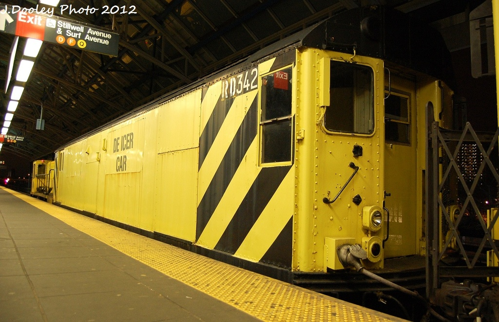 (319k, 1024x662)<br><b>Country:</b> United States<br><b>City:</b> New York<br><b>System:</b> New York City Transit<br><b>Location:</b> Coney Island/Stillwell Avenue<br><b>Route:</b> Work Service<br><b>Car:</b> R-71 Rider Car (R-17/R-21/R-22 Rebuilds)  RD342 <br><b>Photo by:</b> John Dooley<br><b>Date:</b> 1/20/2012<br><b>Viewed (this week/total):</b> 2 / 244