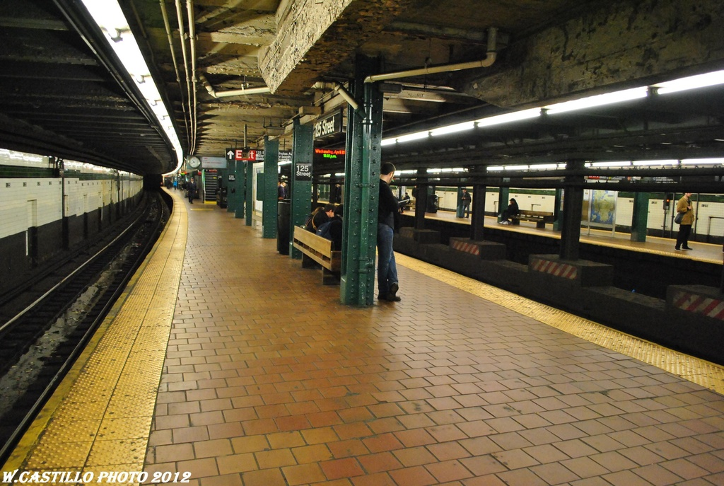 (328k, 1024x687)<br><b>Country:</b> United States<br><b>City:</b> New York<br><b>System:</b> New York City Transit<br><b>Line:</b> IND 8th Avenue Line<br><b>Location:</b> 125th Street <br><b>Photo by:</b> Wilfredo Castillo<br><b>Date:</b> 4/25/2012<br><b>Viewed (this week/total):</b> 0 / 675