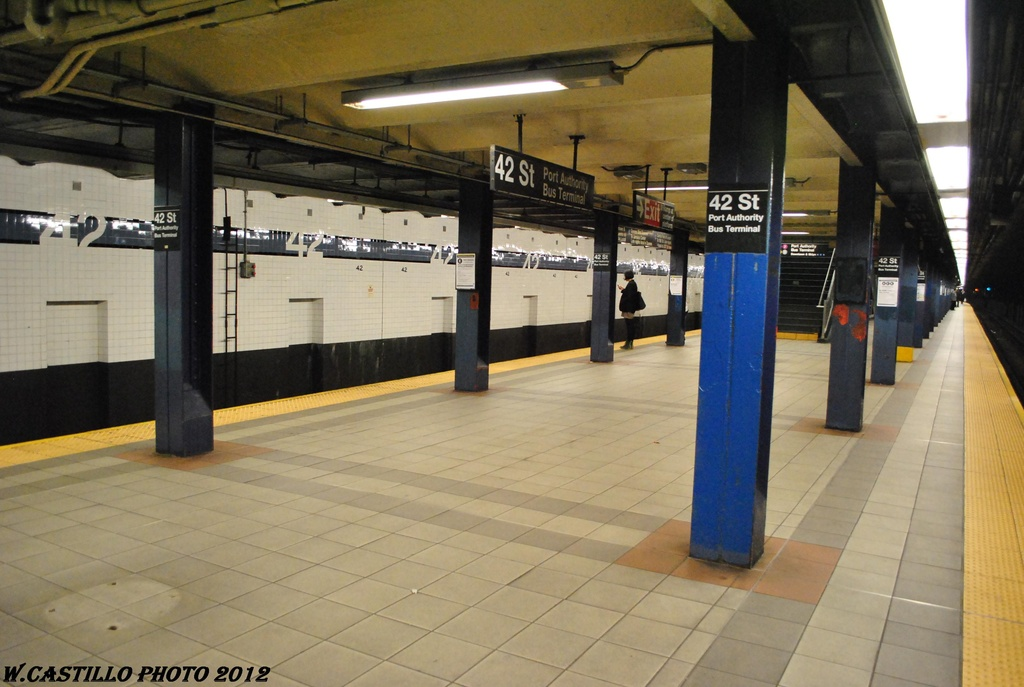 (266k, 1024x687)<br><b>Country:</b> United States<br><b>City:</b> New York<br><b>System:</b> New York City Transit<br><b>Line:</b> IND 8th Avenue Line<br><b>Location:</b> 42nd Street/Port Authority Bus Terminal <br><b>Photo by:</b> Wilfredo Castillo<br><b>Date:</b> 4/25/2012<br><b>Viewed (this week/total):</b> 0 / 471