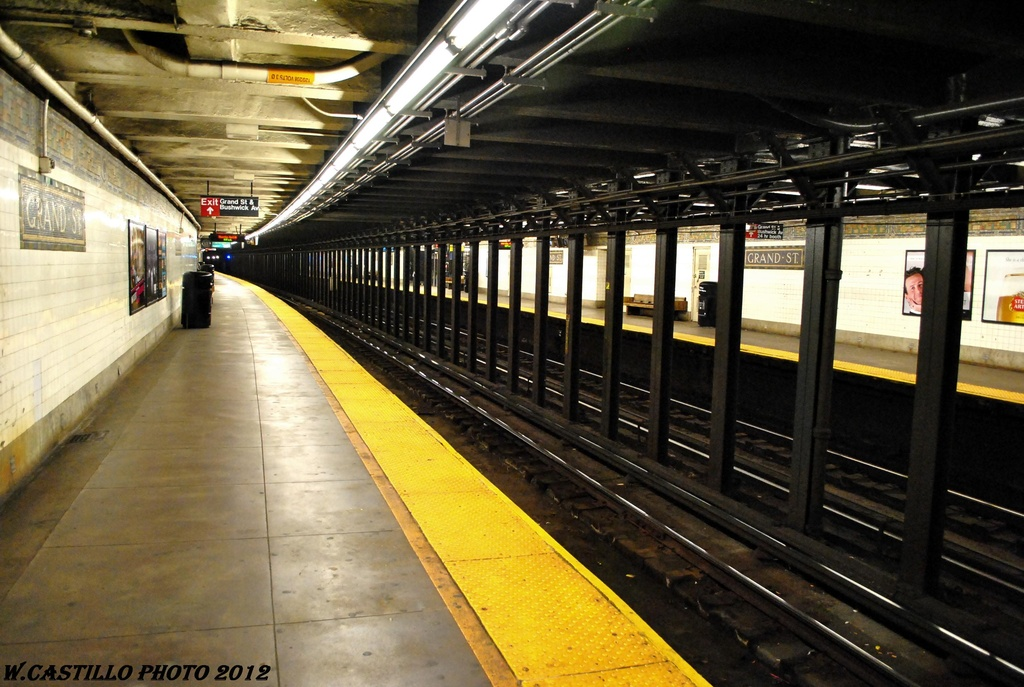 (283k, 1024x687)<br><b>Country:</b> United States<br><b>City:</b> New York<br><b>System:</b> New York City Transit<br><b>Line:</b> BMT Canarsie Line<br><b>Location:</b> Grand Street <br><b>Photo by:</b> Wilfredo Castillo<br><b>Date:</b> 4/2012<br><b>Viewed (this week/total):</b> 6 / 439