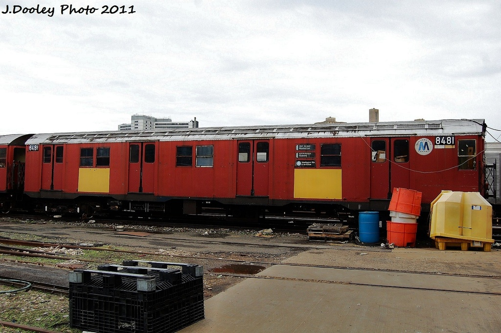 (320k, 1024x680)<br><b>Country:</b> United States<br><b>City:</b> New York<br><b>System:</b> New York City Transit<br><b>Location:</b> 207th Street Yard<br><b>Car:</b> R-30 (St. Louis, 1961) 8481 <br><b>Photo by:</b> John Dooley<br><b>Date:</b> 11/29/2011<br><b>Viewed (this week/total):</b> 1 / 967