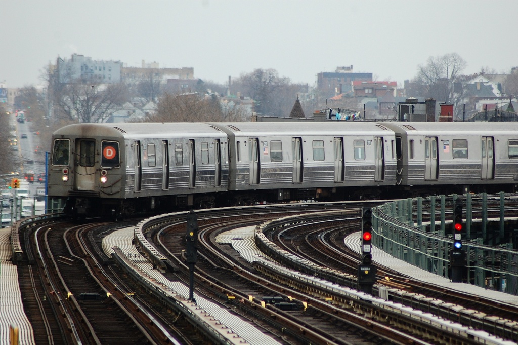 (330k, 1024x681)<br><b>Country:</b> United States<br><b>City:</b> New York<br><b>System:</b> New York City Transit<br><b>Line:</b> BMT West End Line<br><b>Location:</b> 20th Avenue <br><b>Route:</b> D<br><b>Car:</b> R-68 (Westinghouse-Amrail, 1986-1988)  2810 <br><b>Photo by:</b> John Dooley<br><b>Date:</b> 3/2/2012<br><b>Viewed (this week/total):</b> 5 / 971