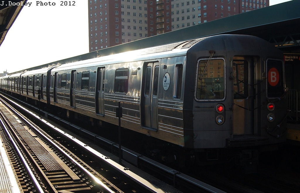 (308k, 1024x657)<br><b>Country:</b> United States<br><b>City:</b> New York<br><b>System:</b> New York City Transit<br><b>Line:</b> BMT Brighton Line<br><b>Location:</b> West 8th Street <br><b>Route:</b> B<br><b>Car:</b> R-68 (Westinghouse-Amrail, 1986-1988)  2898 <br><b>Photo by:</b> John Dooley<br><b>Date:</b> 3/19/2012<br><b>Viewed (this week/total):</b> 2 / 430