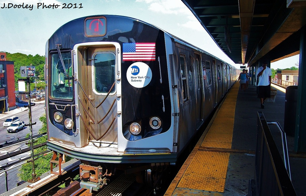 (379k, 1024x657)<br><b>Country:</b> United States<br><b>City:</b> New York<br><b>System:</b> New York City Transit<br><b>Line:</b> BMT Nassau Street/Jamaica Line<br><b>Location:</b> Alabama Avenue <br><b>Route:</b> J<br><b>Car:</b> R-160A-1 (Alstom, 2005-2008, 4 car sets)  8344 <br><b>Photo by:</b> John Dooley<br><b>Date:</b> 8/17/2011<br><b>Viewed (this week/total):</b> 2 / 212