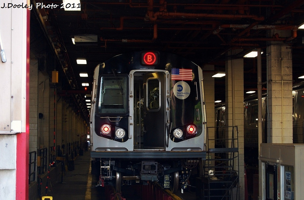 (298k, 1024x674)<br><b>Country:</b> United States<br><b>City:</b> New York<br><b>System:</b> New York City Transit<br><b>Location:</b> Coney Island Yard<br><b>Car:</b> R-160A-2 (Alstom, 2005-2008, 5 car sets)  8653 <br><b>Photo by:</b> John Dooley<br><b>Date:</b> 8/26/2011<br><b>Viewed (this week/total):</b> 2 / 384
