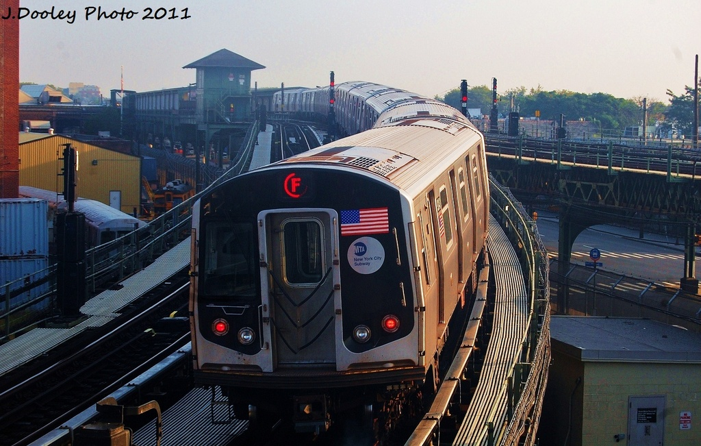 (335k, 1024x651)<br><b>Country:</b> United States<br><b>City:</b> New York<br><b>System:</b> New York City Transit<br><b>Location:</b> Coney Island Yard<br><b>Car:</b> R-160A (Option 1) (Alstom, 2008-2009, 5 car sets)  9243 <br><b>Photo by:</b> John Dooley<br><b>Date:</b> 8/26/2011<br><b>Viewed (this week/total):</b> 3 / 406