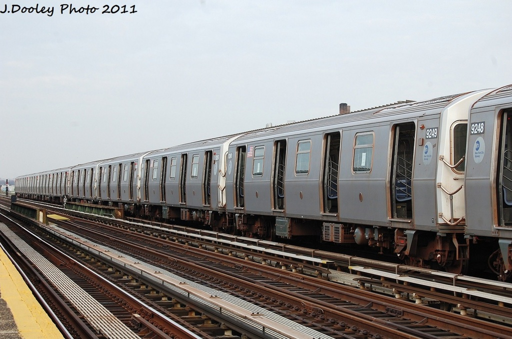 (312k, 1024x678)<br><b>Country:</b> United States<br><b>City:</b> New York<br><b>System:</b> New York City Transit<br><b>Line:</b> BMT Culver Line<br><b>Location:</b> Avenue P <br><b>Route:</b> Testing<br><b>Car:</b> R-160A (Option 1) (Alstom, 2008-2009, 5 car sets)  9249 <br><b>Photo by:</b> John Dooley<br><b>Date:</b> 12/5/2011<br><b>Viewed (this week/total):</b> 0 / 268