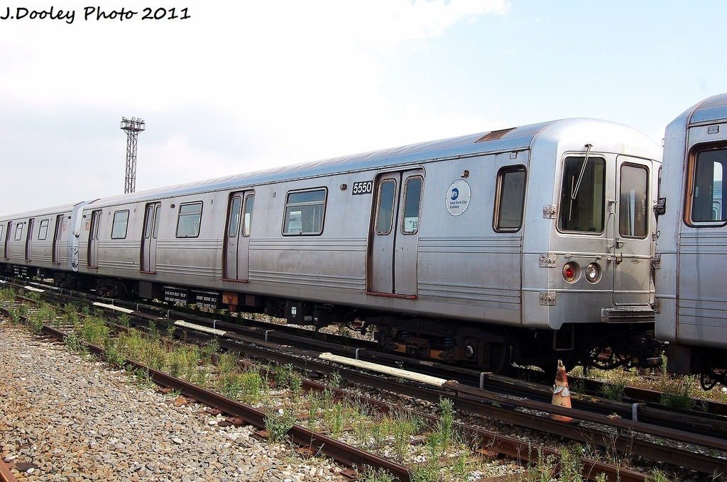 (355k, 1024x680)<br><b>Country:</b> United States<br><b>City:</b> New York<br><b>System:</b> New York City Transit<br><b>Location:</b> Coney Island Yard<br><b>Car:</b> R-46 (Pullman-Standard, 1974-75) 5550 <br><b>Photo by:</b> John Dooley<br><b>Date:</b> 8/26/2011<br><b>Viewed (this week/total):</b> 0 / 423