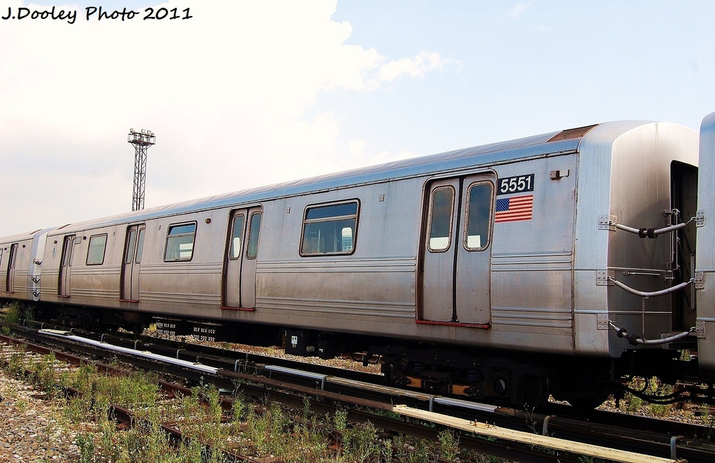 (310k, 1024x663)<br><b>Country:</b> United States<br><b>City:</b> New York<br><b>System:</b> New York City Transit<br><b>Location:</b> Coney Island Yard<br><b>Car:</b> R-46 (Pullman-Standard, 1974-75) 5551 <br><b>Photo by:</b> John Dooley<br><b>Date:</b> 8/26/2011<br><b>Viewed (this week/total):</b> 2 / 272