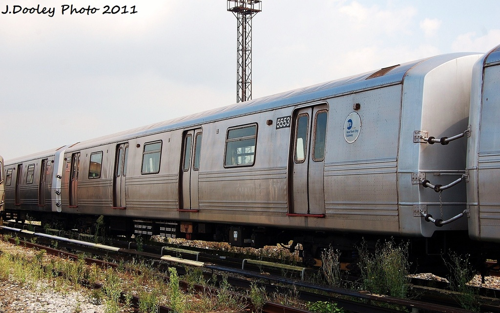 (324k, 1024x642)<br><b>Country:</b> United States<br><b>City:</b> New York<br><b>System:</b> New York City Transit<br><b>Location:</b> Coney Island Yard<br><b>Car:</b> R-46 (Pullman-Standard, 1974-75) 5553 <br><b>Photo by:</b> John Dooley<br><b>Date:</b> 8/26/2011<br><b>Viewed (this week/total):</b> 2 / 98