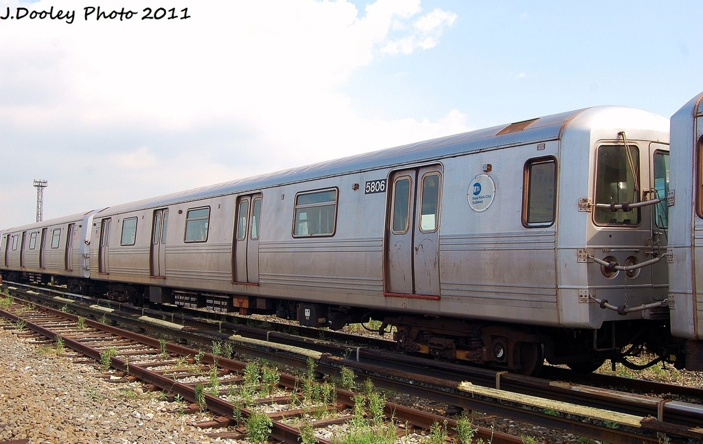 (310k, 1024x647)<br><b>Country:</b> United States<br><b>City:</b> New York<br><b>System:</b> New York City Transit<br><b>Location:</b> Coney Island Yard<br><b>Car:</b> R-46 (Pullman-Standard, 1974-75) 5806 <br><b>Photo by:</b> John Dooley<br><b>Date:</b> 8/26/2011<br><b>Viewed (this week/total):</b> 0 / 392