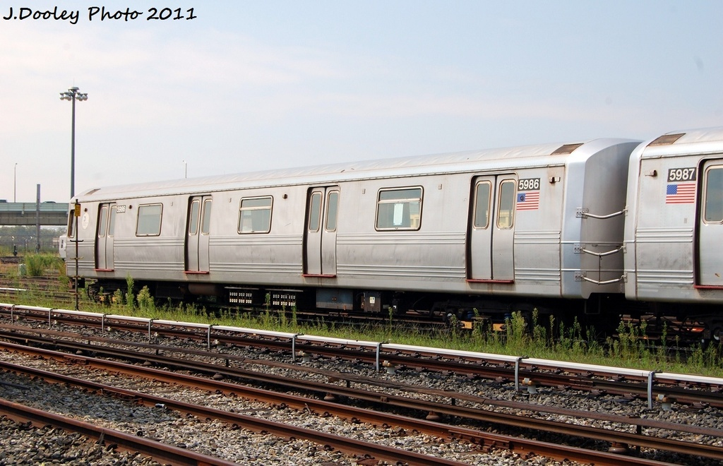 (313k, 1024x660)<br><b>Country:</b> United States<br><b>City:</b> New York<br><b>System:</b> New York City Transit<br><b>Location:</b> Coney Island Yard<br><b>Car:</b> R-46 (Pullman-Standard, 1974-75) 5986 <br><b>Photo by:</b> John Dooley<br><b>Date:</b> 8/26/2011<br><b>Viewed (this week/total):</b> 1 / 99