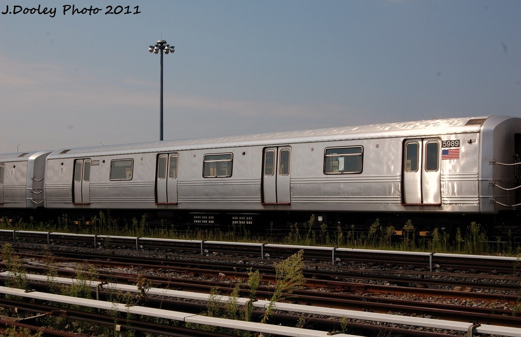 (273k, 1024x662)<br><b>Country:</b> United States<br><b>City:</b> New York<br><b>System:</b> New York City Transit<br><b>Location:</b> Coney Island Yard<br><b>Car:</b> R-46 (Pullman-Standard, 1974-75) 5989 <br><b>Photo by:</b> John Dooley<br><b>Date:</b> 8/26/2011<br><b>Viewed (this week/total):</b> 3 / 99
