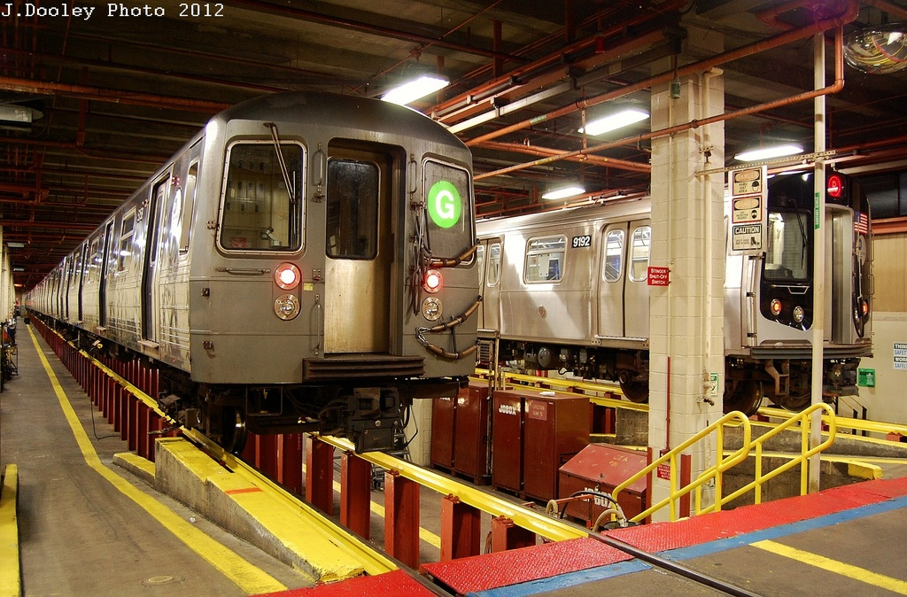 (390k, 1024x674)<br><b>Country:</b> United States<br><b>City:</b> New York<br><b>System:</b> New York City Transit<br><b>Location:</b> Coney Island Shop/Maint. & Inspection Shop<br><b>Car:</b> R-68A (Kawasaki, 1988-1989)  5158 <br><b>Photo by:</b> John Dooley<br><b>Date:</b> 2/27/2012<br><b>Viewed (this week/total):</b> 3 / 480
