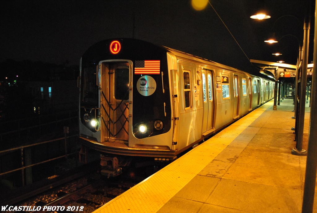 (265k, 1024x687)<br><b>Country:</b> United States<br><b>City:</b> New York<br><b>System:</b> New York City Transit<br><b>Line:</b> BMT Nassau Street/Jamaica Line<br><b>Location:</b> Broadway/East New York (Broadway Junction) <br><b>Route:</b> J<br><b>Car:</b> R-160A-1 (Alstom, 2005-2008, 4 car sets)  8360 <br><b>Photo by:</b> Wilfredo Castillo<br><b>Date:</b> 5/2/2012<br><b>Viewed (this week/total):</b> 1 / 418