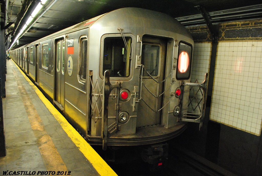 (303k, 1024x687)<br><b>Country:</b> United States<br><b>City:</b> New York<br><b>System:</b> New York City Transit<br><b>Line:</b> IRT West Side Line<br><b>Location:</b> 14th Street <br><b>Route:</b> 1<br><b>Car:</b> R-62A (Bombardier, 1984-1987)  2391 <br><b>Photo by:</b> Wilfredo Castillo<br><b>Date:</b> 4/28/2012<br><b>Viewed (this week/total):</b> 4 / 594