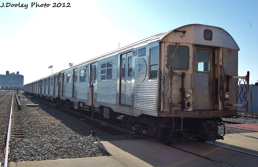 (319k, 1024x663)<br><b>Country:</b> United States<br><b>City:</b> New York<br><b>System:</b> New York City Transit<br><b>Location:</b> Coney Island Yard<br><b>Car:</b> R-32 (Budd, 1964)  3430 <br><b>Photo by:</b> John Dooley<br><b>Date:</b> 1/7/2012<br><b>Viewed (this week/total):</b> 1 / 357