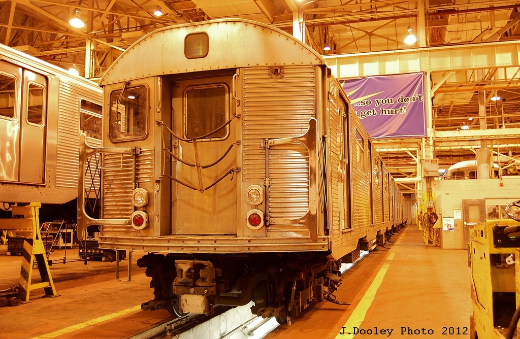 (400k, 1024x668)<br><b>Country:</b> United States<br><b>City:</b> New York<br><b>System:</b> New York City Transit<br><b>Location:</b> Coney Island Shop/Overhaul & Repair Shop<br><b>Car:</b> R-32 (Budd, 1964)  3614 <br><b>Photo by:</b> John Dooley<br><b>Date:</b> 2/21/2012<br><b>Viewed (this week/total):</b> 0 / 176