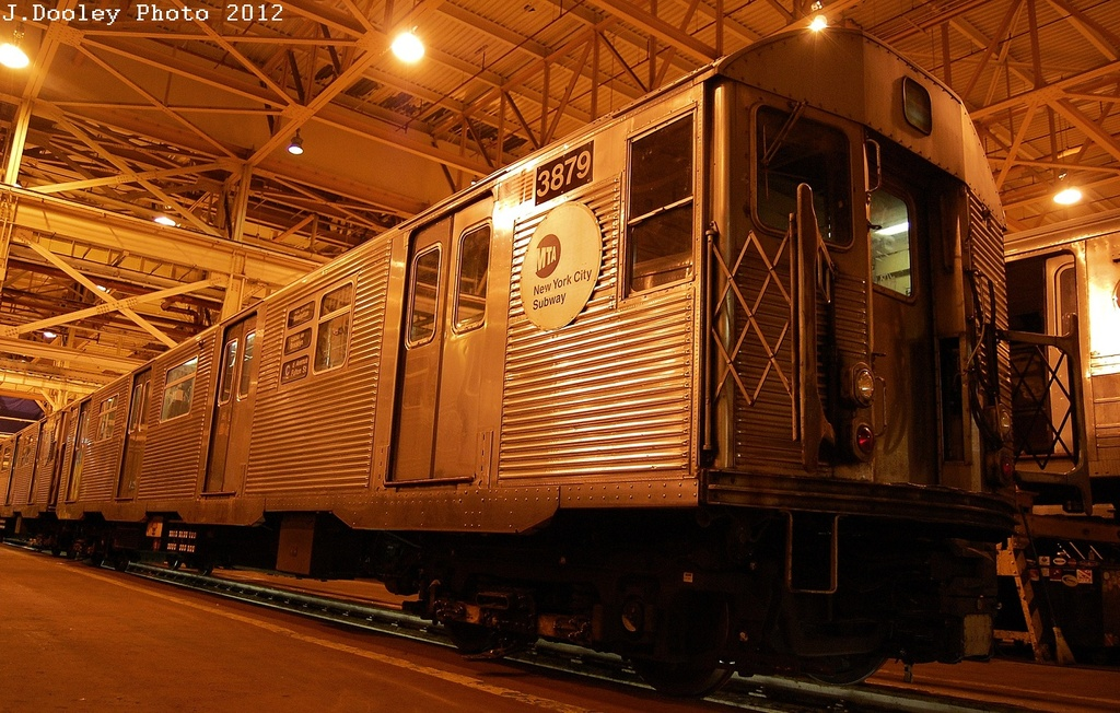 (370k, 1024x652)<br><b>Country:</b> United States<br><b>City:</b> New York<br><b>System:</b> New York City Transit<br><b>Location:</b> Coney Island Shop/Overhaul & Repair Shop<br><b>Car:</b> R-32 (Budd, 1964)  3879 <br><b>Photo by:</b> John Dooley<br><b>Date:</b> 2/21/2012<br><b>Viewed (this week/total):</b> 0 / 451