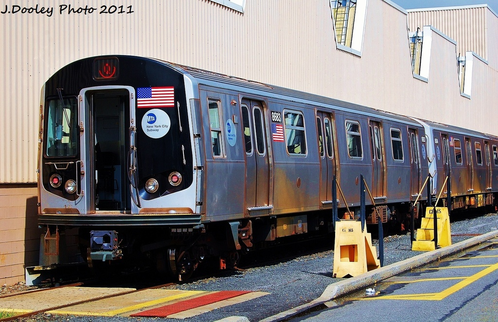 (381k, 1024x662)<br><b>Country:</b> United States<br><b>City:</b> New York<br><b>System:</b> New York City Transit<br><b>Location:</b> Coney Island Yard<br><b>Car:</b> R-160A-2 (Alstom, 2005-2008, 5 car sets)  8683 <br><b>Photo by:</b> John Dooley<br><b>Date:</b> 8/26/2011<br><b>Viewed (this week/total):</b> 0 / 202