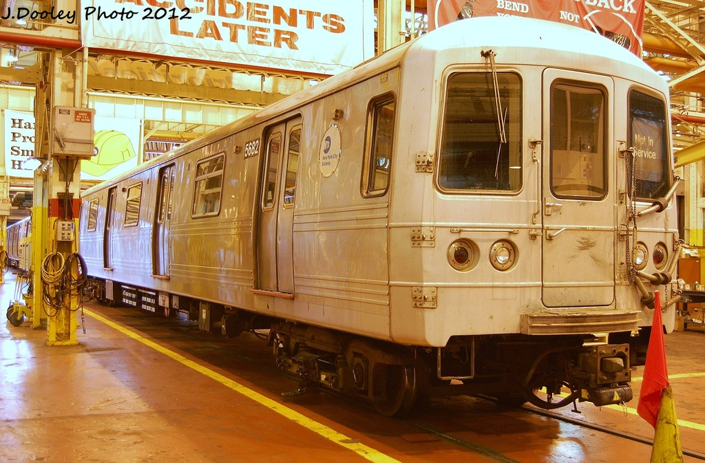 (371k, 1024x673)<br><b>Country:</b> United States<br><b>City:</b> New York<br><b>System:</b> New York City Transit<br><b>Location:</b> Coney Island Shop/Overhaul & Repair Shop<br><b>Car:</b> R-46 (Pullman-Standard, 1974-75) 5682 <br><b>Photo by:</b> John Dooley<br><b>Date:</b> 1/7/2012<br><b>Viewed (this week/total):</b> 1 / 179