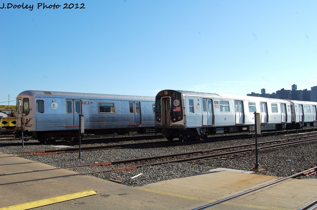 (322k, 1024x680)<br><b>Country:</b> United States<br><b>City:</b> New York<br><b>System:</b> New York City Transit<br><b>Location:</b> Coney Island Yard<br><b>Car:</b> R-46 (Pullman-Standard, 1974-75) 5728 <br><b>Photo by:</b> John Dooley<br><b>Date:</b> 1/7/2012<br><b>Viewed (this week/total):</b> 1 / 201