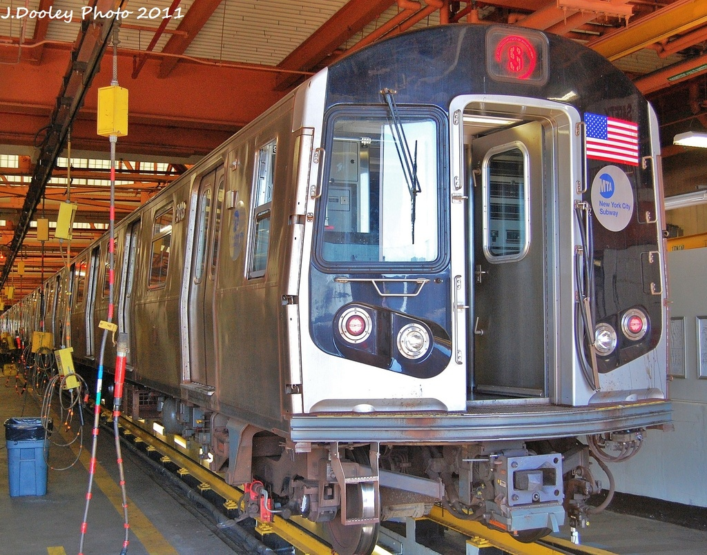 (461k, 1024x805)<br><b>Country:</b> United States<br><b>City:</b> New York<br><b>System:</b> New York City Transit<br><b>Location:</b> Coney Island Shop/Overhaul & Repair Shop<br><b>Car:</b> R-160B (Option 1) (Kawasaki, 2008-2009)  9113 <br><b>Photo by:</b> John Dooley<br><b>Date:</b> 10/9/2011<br><b>Viewed (this week/total):</b> 0 / 704
