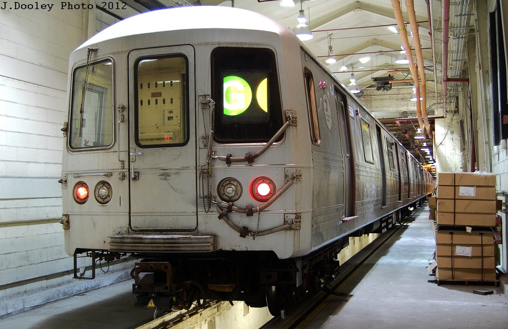 (332k, 1024x663)<br><b>Country:</b> United States<br><b>City:</b> New York<br><b>System:</b> New York City Transit<br><b>Location:</b> Coney Island Shop/Overhaul & Repair Shop<br><b>Car:</b> R-46 (Pullman-Standard, 1974-75) 5594 <br><b>Photo by:</b> John Dooley<br><b>Date:</b> 2/21/2012<br><b>Viewed (this week/total):</b> 4 / 424