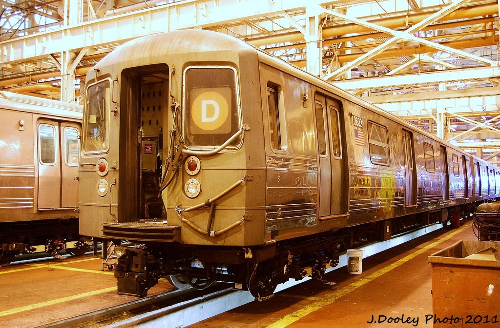 (429k, 1024x673)<br><b>Country:</b> United States<br><b>City:</b> New York<br><b>System:</b> New York City Transit<br><b>Location:</b> Coney Island Shop/Overhaul & Repair Shop<br><b>Car:</b> R-68 (Westinghouse-Amrail, 1986-1988)  2632 <br><b>Photo by:</b> John Dooley<br><b>Date:</b> 8/26/2011<br><b>Viewed (this week/total):</b> 2 / 123