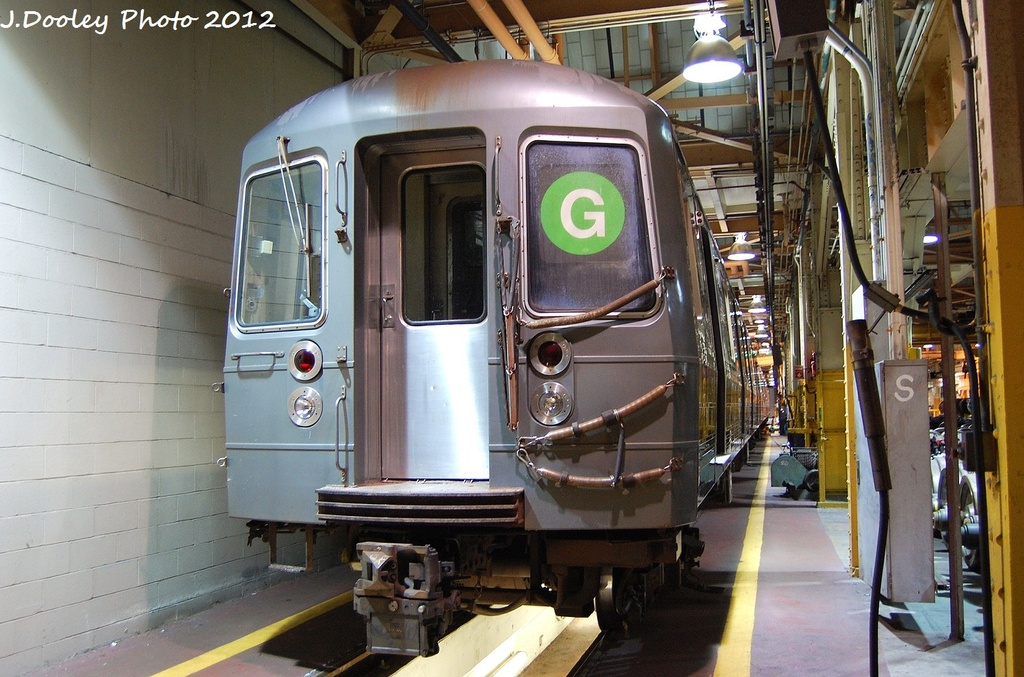 (346k, 1024x677)<br><b>Country:</b> United States<br><b>City:</b> New York<br><b>System:</b> New York City Transit<br><b>Location:</b> Coney Island Shop/Overhaul & Repair Shop<br><b>Car:</b> R-68A (Kawasaki, 1988-1989)   <br><b>Photo by:</b> John Dooley<br><b>Date:</b> 1/19/2012<br><b>Viewed (this week/total):</b> 0 / 490