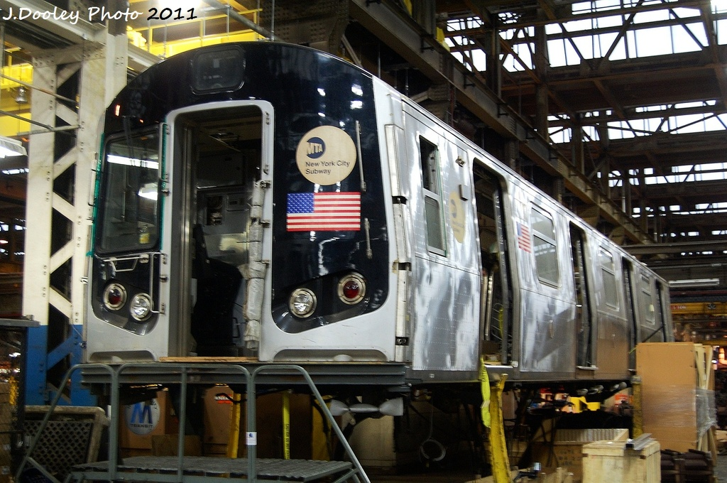 (359k, 1024x680)<br><b>Country:</b> United States<br><b>City:</b> New York<br><b>System:</b> New York City Transit<br><b>Location:</b> Coney Island Shop/Overhaul & Repair Shop<br><b>Car:</b> R-143 (Kawasaki, 2001-2002) 8277 <br><b>Photo by:</b> John Dooley<br><b>Date:</b> 11/29/2011<br><b>Viewed (this week/total):</b> 0 / 347