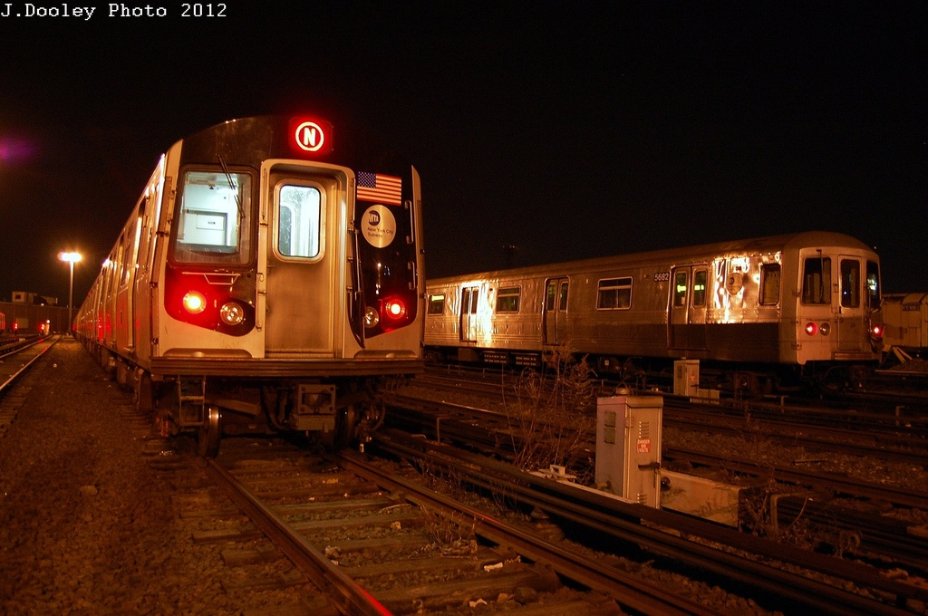 (293k, 1024x680)<br><b>Country:</b> United States<br><b>City:</b> New York<br><b>System:</b> New York City Transit<br><b>Location:</b> Coney Island Yard<br><b>Car:</b> R-46 (Pullman-Standard, 1974-75) 5682 <br><b>Photo by:</b> John Dooley<br><b>Date:</b> 2/27/2012<br><b>Viewed (this week/total):</b> 0 / 342