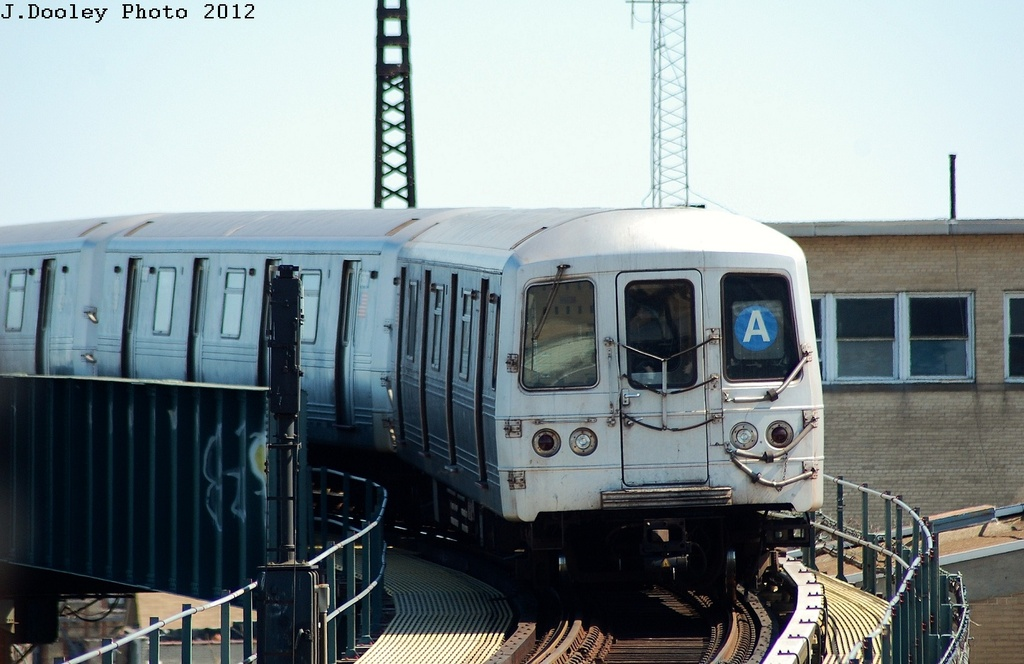 (272k, 1024x664)<br><b>Country:</b> United States<br><b>City:</b> New York<br><b>System:</b> New York City Transit<br><b>Line:</b> IND Rockaway<br><b>Location:</b> Liberty Junction<br><b>Route:</b> A<br><b>Car:</b> R-46 (Pullman-Standard, 1974-75) 5968 <br><b>Photo by:</b> John Dooley<br><b>Date:</b> 3/27/2012<br><b>Viewed (this week/total):</b> 0 / 259